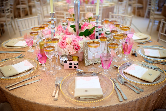 Photography: Peter Lane, Centerpieces: Essential Wedding Hire, Glassware: Couvert, Linens: Gilded Linens